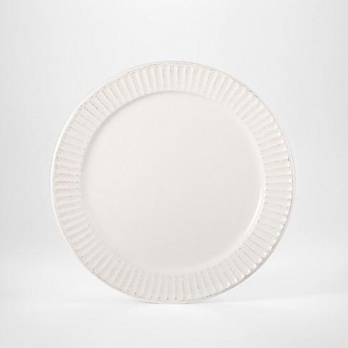 "Stoneware Harrison Salad Plate 8.8"" White - Threshold™ - image 1 of 1"