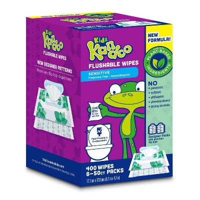 Kandoo Flushable Wipes with Flip Top - 400ct