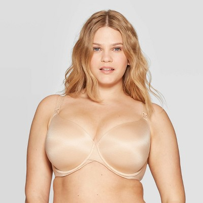 Women's Nursing Full Coverage T-Shirt Bra - Auden™ Pearl Tan 40DD