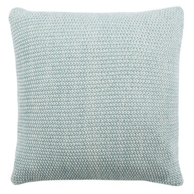 "20""x20"" Liliana Knit Square Throw Pillow Blue - Safavieh"