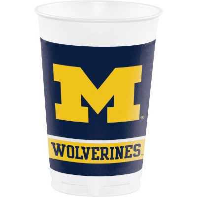 8ct Michigan Wolverines Plastic Cups