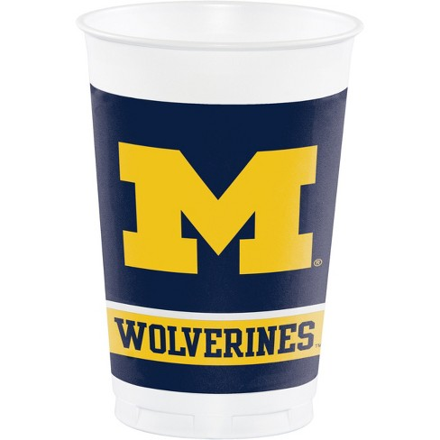8ct Michigan Wolverines Plastic Cups - image 1 of 2