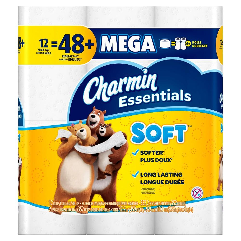 Charmin Essentials Soft Toilet Paper - 12 Mega Rolls