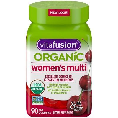 Vitafusion Organic Women's Multivitamin Gummies - Wild Cherry - 90ct