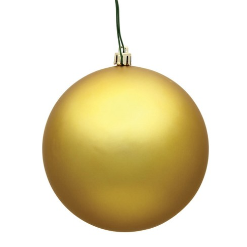 "Vickerman 3"" Gold Matte Ball Christmas Ornament, 12 per Bag - image 1 of 1"