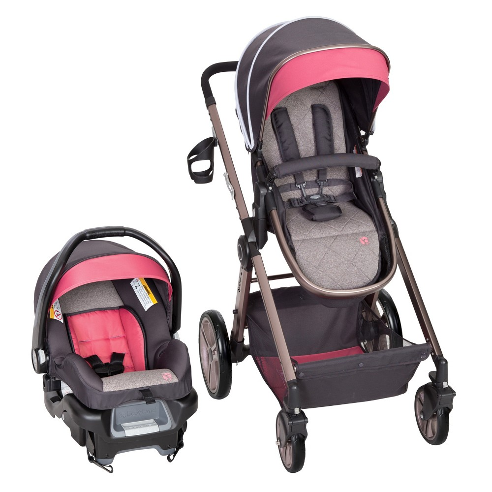 Image of Baby Trend Go Lite Snap Gear Sprout Travel System - Stardust Rose