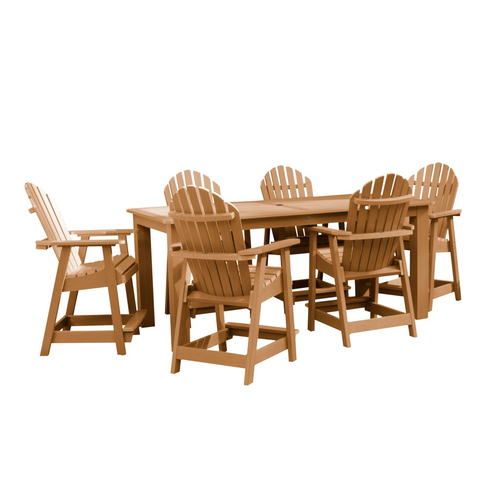 "Image of ""Hamilton 7pc Rectangular Counter Height Dining Set 84"""" X 42"""" Toffee - Highwood"""