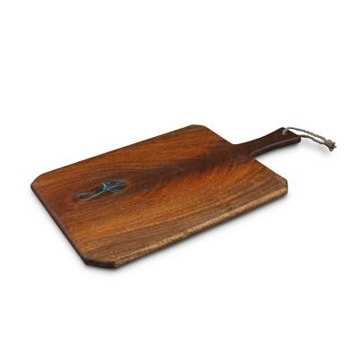"Thirstystone 20"" x 11.5"" Mango Wood Turquoise Inlay Paddle Serving Board"