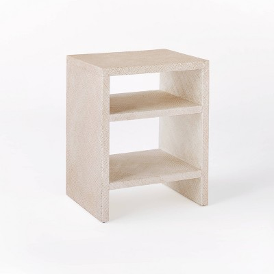 Fountain Valley Pandan Wrapped Side Table White - Threshold™ designed with Studio McGee