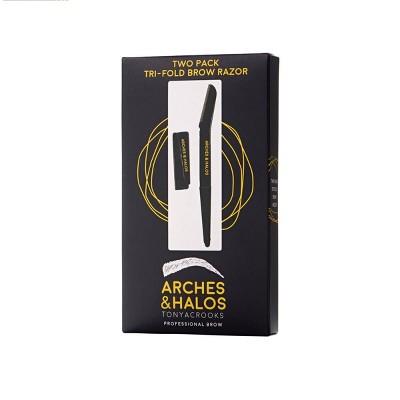 Arches & Halos Tri-Fold Eyebrow Razor - 2pc