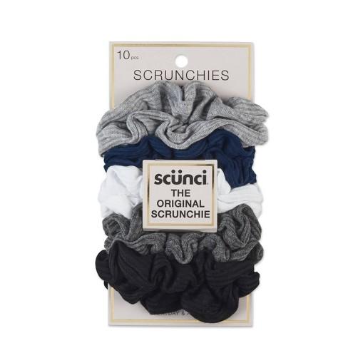 scunci Everyday & Active No Damage Large Interlock Twister Scrunchies - 10pk - image 1 of 3
