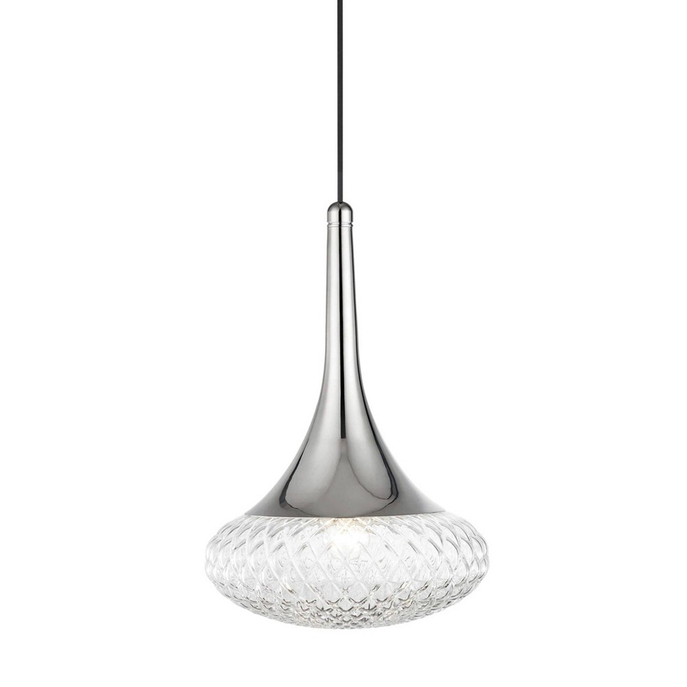 Bella 1-Light Pendant Chandelier Style D Brushed Nickel - Mitzi by Hudson Valley Price