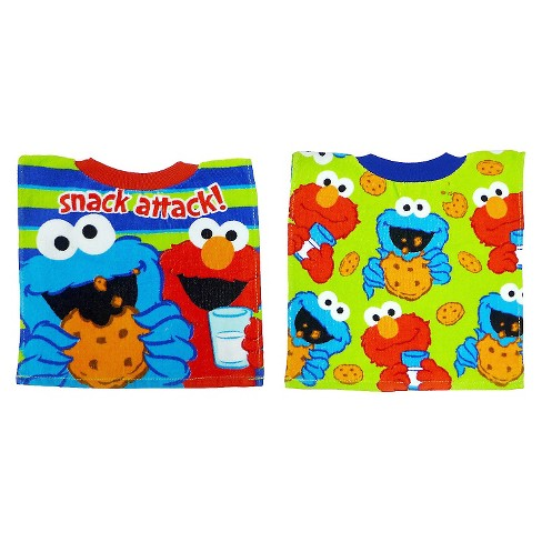 Neat Solutions Sesame Street Pullover Bib - Elmo/Cookie Monster (2 pack) - image 1 of 2