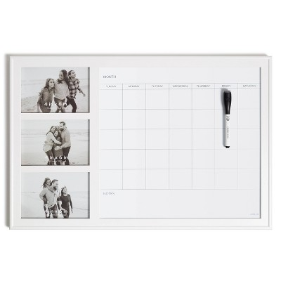 "U Brands 15""x23"" Photo Frame Dry Erase Monthly Calendar with Marker"