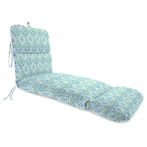 Outdoor Knife Edge chiase Lounge Cushion In ReIna Capri - Jordan Manufacturing - image 1 of 2