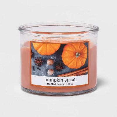 11oz Glass Jar 3-Wick Pumpkin Spice Candle