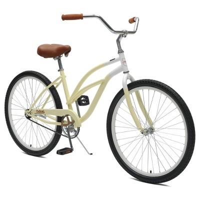 Critical Cycles Ladies Chatham 1-speed Cruiser Bike- 26  - Sand/Beige