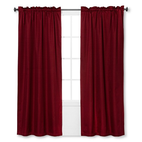"84""x42"" Braxton Thermaback Blackout Curtain Panel Red - Eclipse - image 1 of 1"