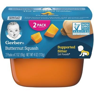 Gerber 1st Foods Baby Food Butternut Squash - 2oz (2ct)