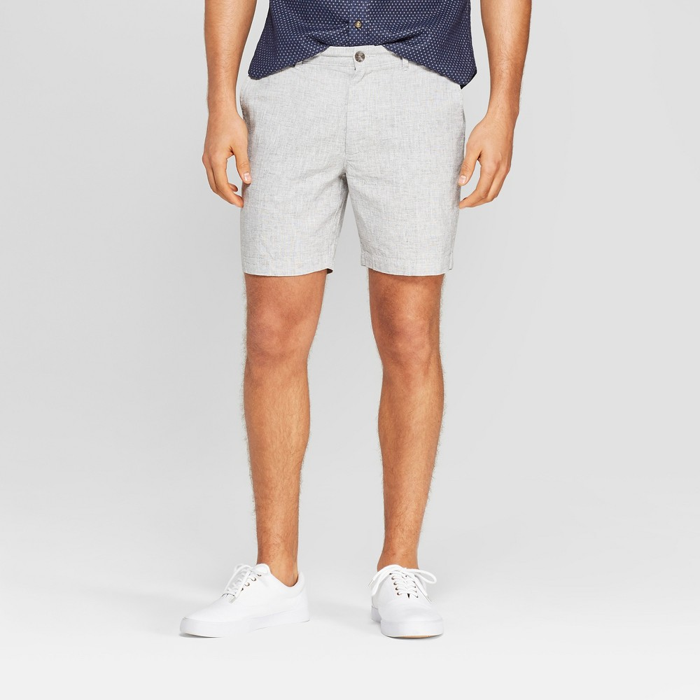 Men S 7 Slim Fit Chino Shorts Goodfellow Co 8482 Gray 42