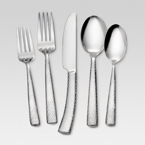 Arkita 20pc Stainless Steel Silverware Set - Threshold™ - image 1 of 4
