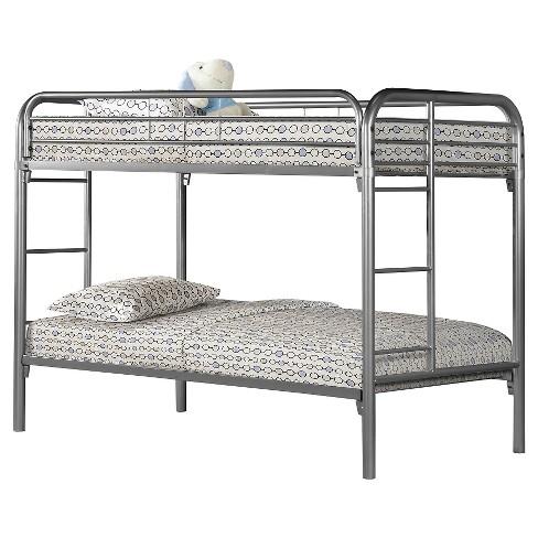 metal bunkbed kids bed frame twin full silver everyroom target. Black Bedroom Furniture Sets. Home Design Ideas