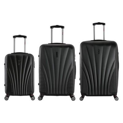InUSA Chicago 3pc Hardside Spinner Luggage Set