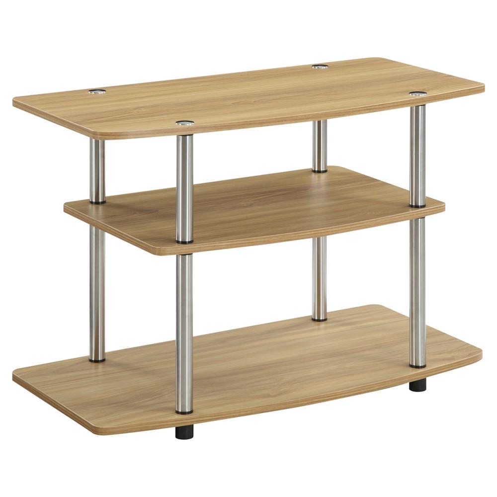 3 Tier TV Stand Light Oak - Johar Furniture