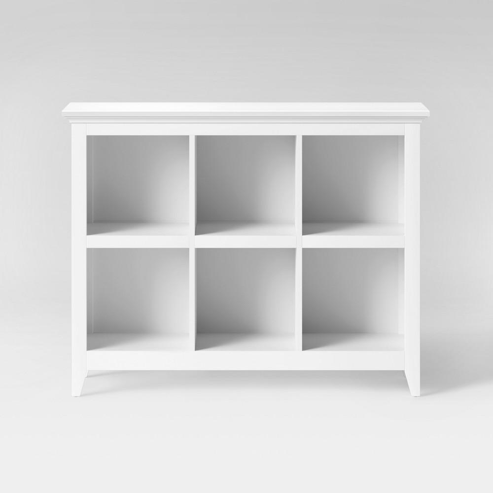 Carson 37.2 - Bin Organizer Bookcase - White - Threshold