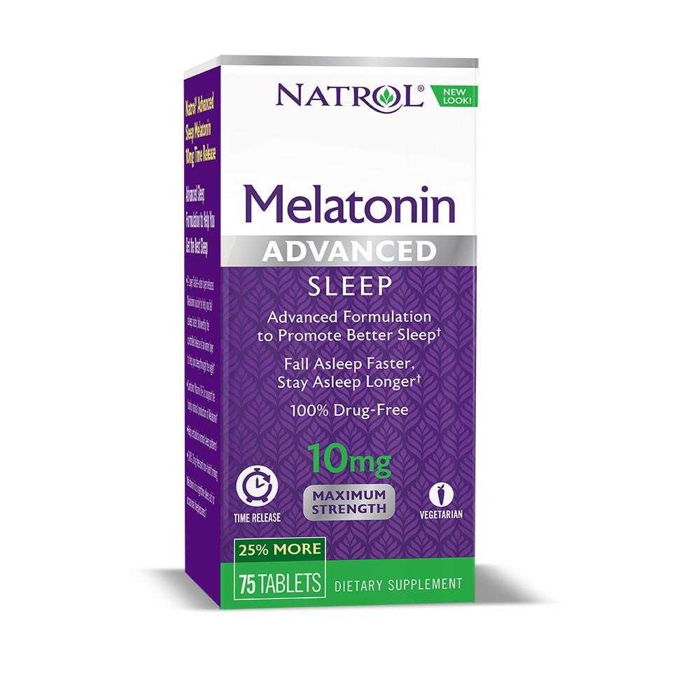 Natrol Melatonin Advanced Sleep Aid 10mg Supplement Tablets - 75ct