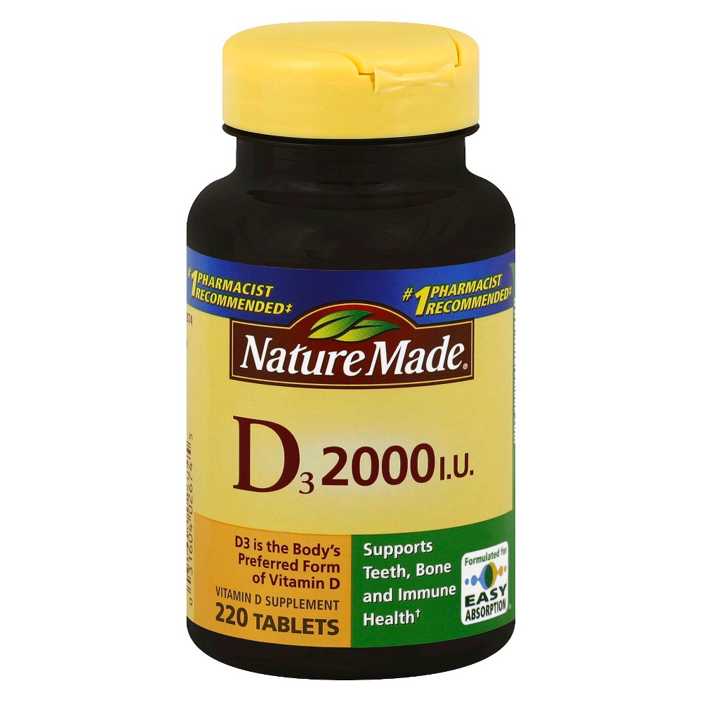 Nature Made Vitamin D3 Tablets - 220ct