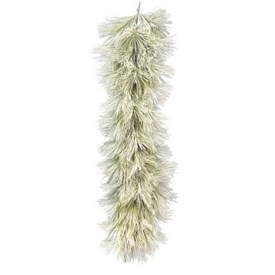 "Vickerman 6' x 18"" Flocked Coutler Pine Artificial Christmas Garland, Unlit"