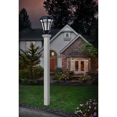 72 Ez Mount Lamp Post White Vita, White Lamp Post With House Number