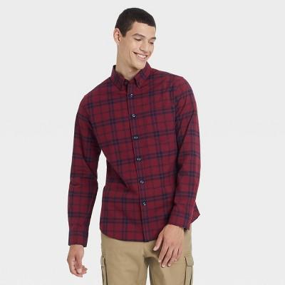 Men's Slim Fit Poplin Performance Dress Long Sleeve Button-Down Shirt - Goodfellow & Co™