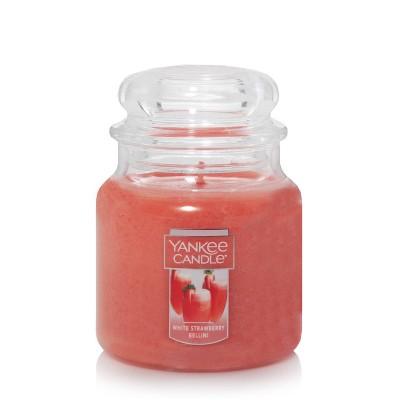 14.5oz Glass Jar White Strawberry Bellini Candle - Yankee Candle