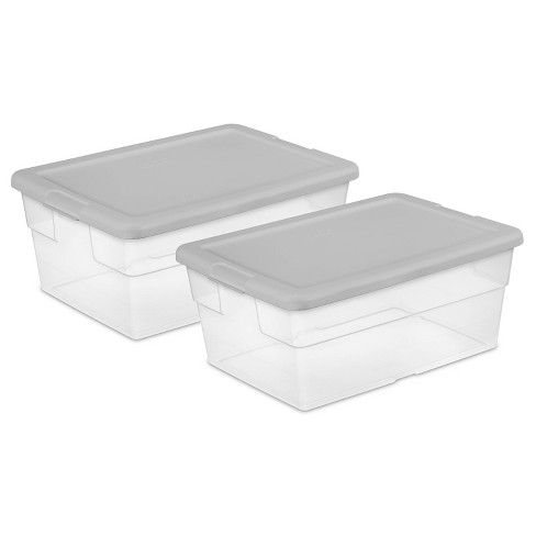 16qt 2pk Sweater Box with Gray Lid - Room Essentials™ - image 1 of 5