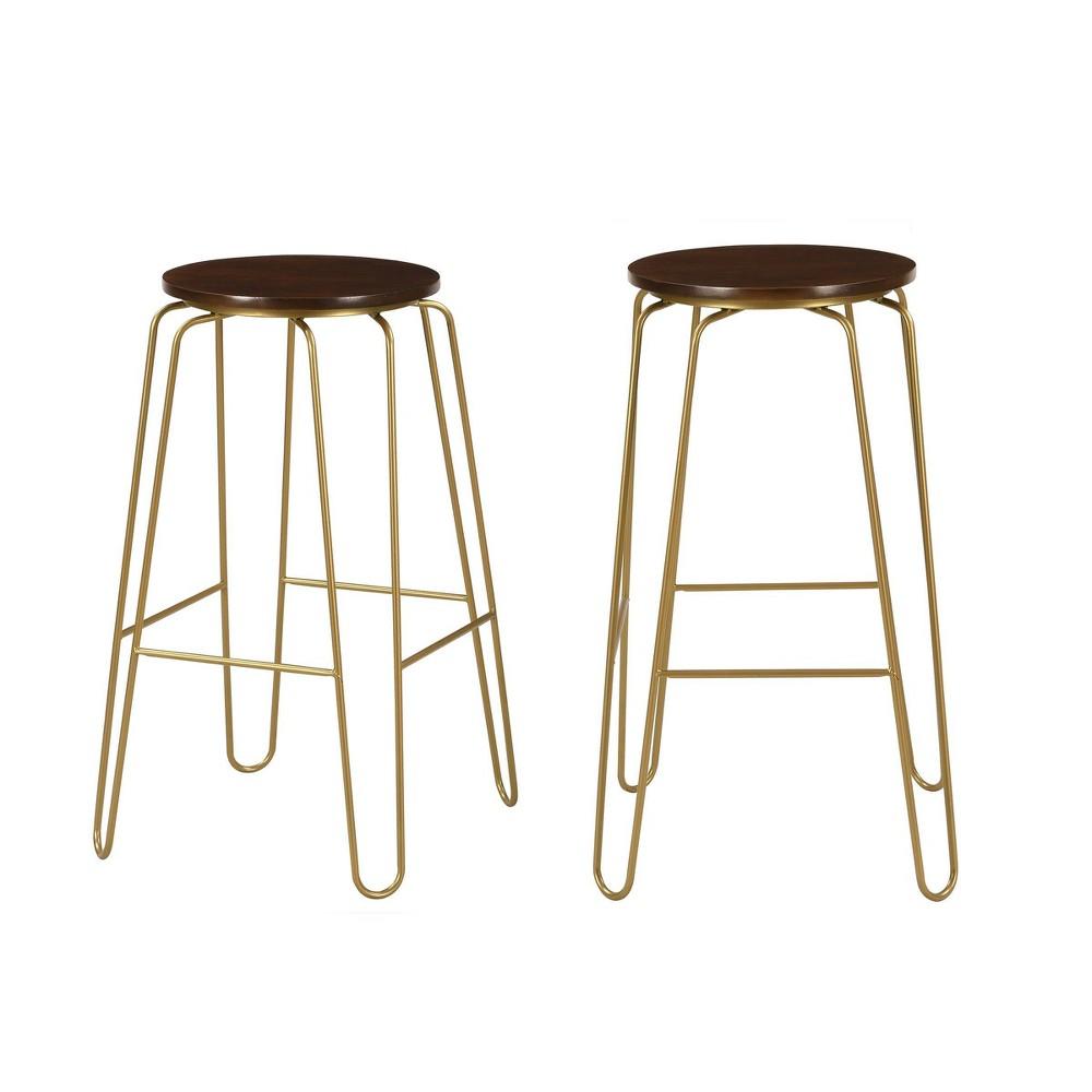 Set Of 2 29 34 Winston Barstools Elm Gold Carolina Chair 38 Table