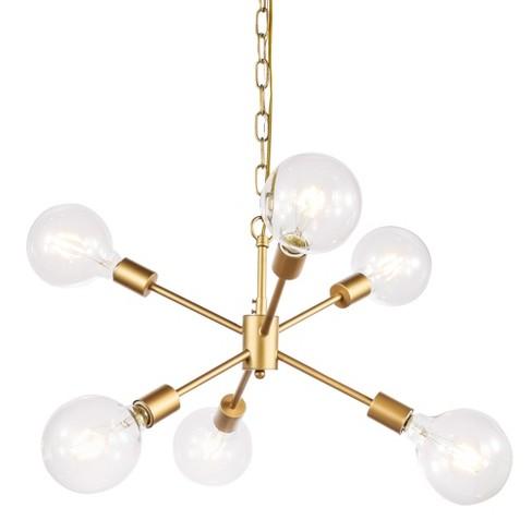 """Elegant Lighting LD5034D16 Nolan 6 Light 16"""" Wide Sputnik Chandelier - image 1 of 3"""