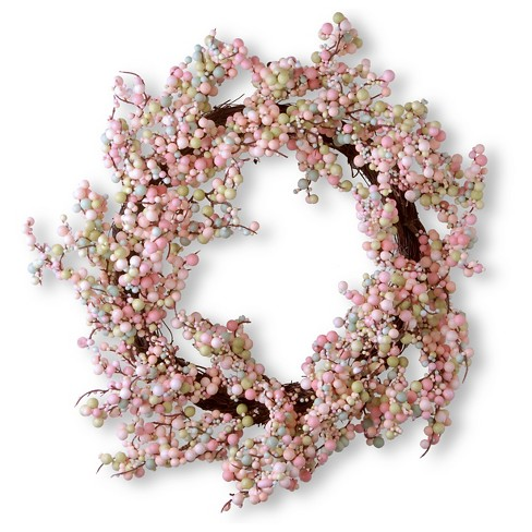 "Wreath - Light Pink (15.75"") - image 1 of 1"
