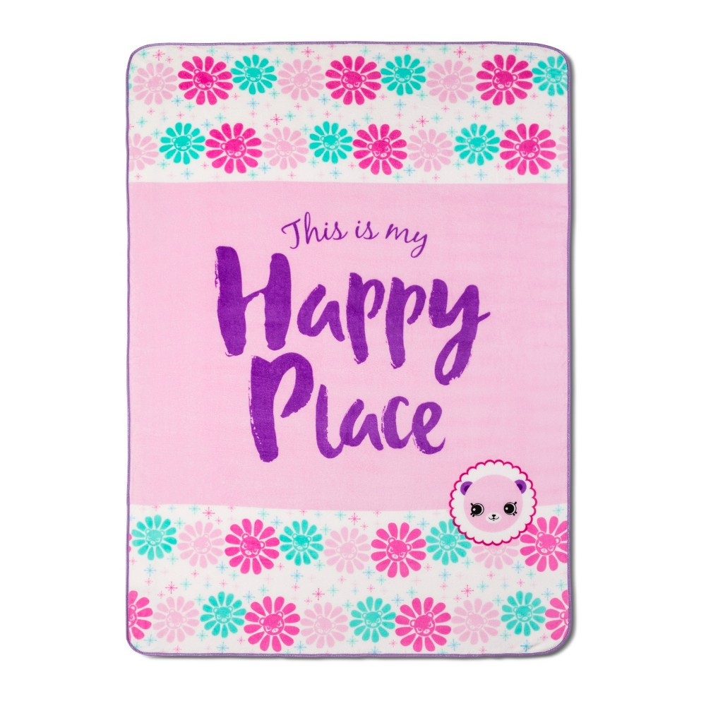 Shopkins Happy Places Pink Bed Blanket (Twin)