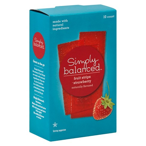 Strawberry Fruit Strips 10ct - Simply Balanced™ - image 1 of 3