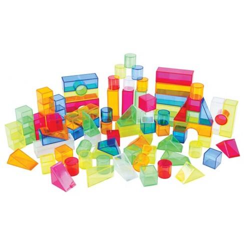 Joyn Toys Transparent Light and Color Blocks  - 108 Pieces - image 1 of 3