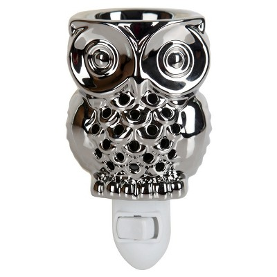 Owl Shaped Plug-In Fragrance Warmer Silver - Home Scents By Chesapeake Bay Candle