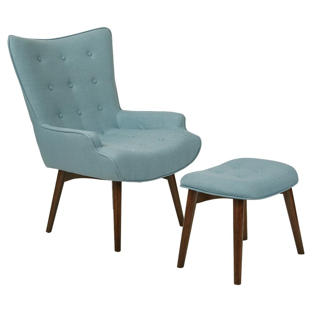 2pc Dalton Chair & Ottoman Capri - Osp Home Furnishings