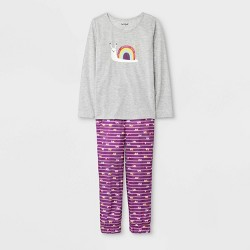 Girls' Pajama Set - Cat & Jack™ Heather Grey