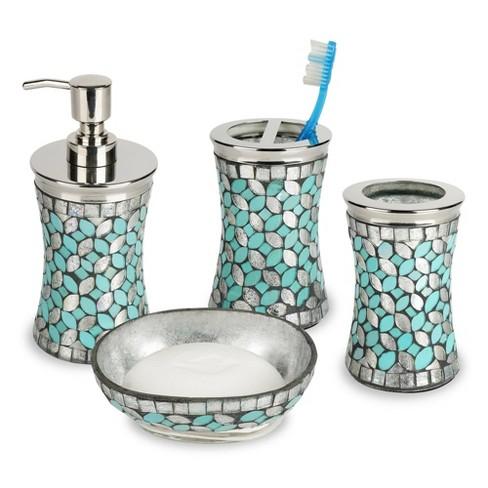 Vanity Counter Tops Silver Nu Steel, Silver Bathroom Accessories Sets