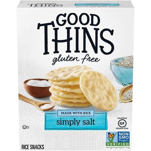 Good Thins Simply Salt Rice Snacks Gluten Free Crackers - 3.5oz - image 1 of 4