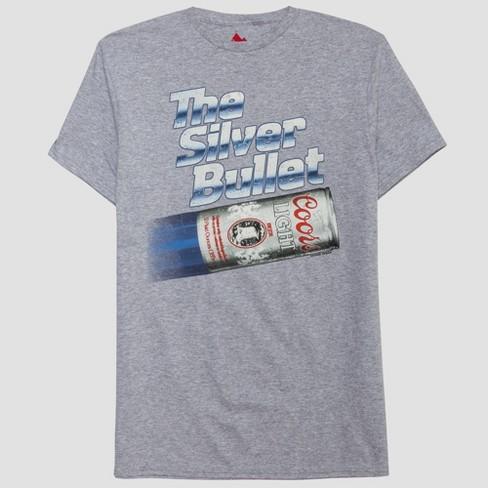 Men's Miller Coors Light Short Sleeve Graphic T Shirt Athletic Heather