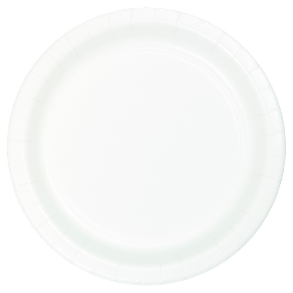 Image of 7Round 60ct Disposable Snack Plate White - Spritz