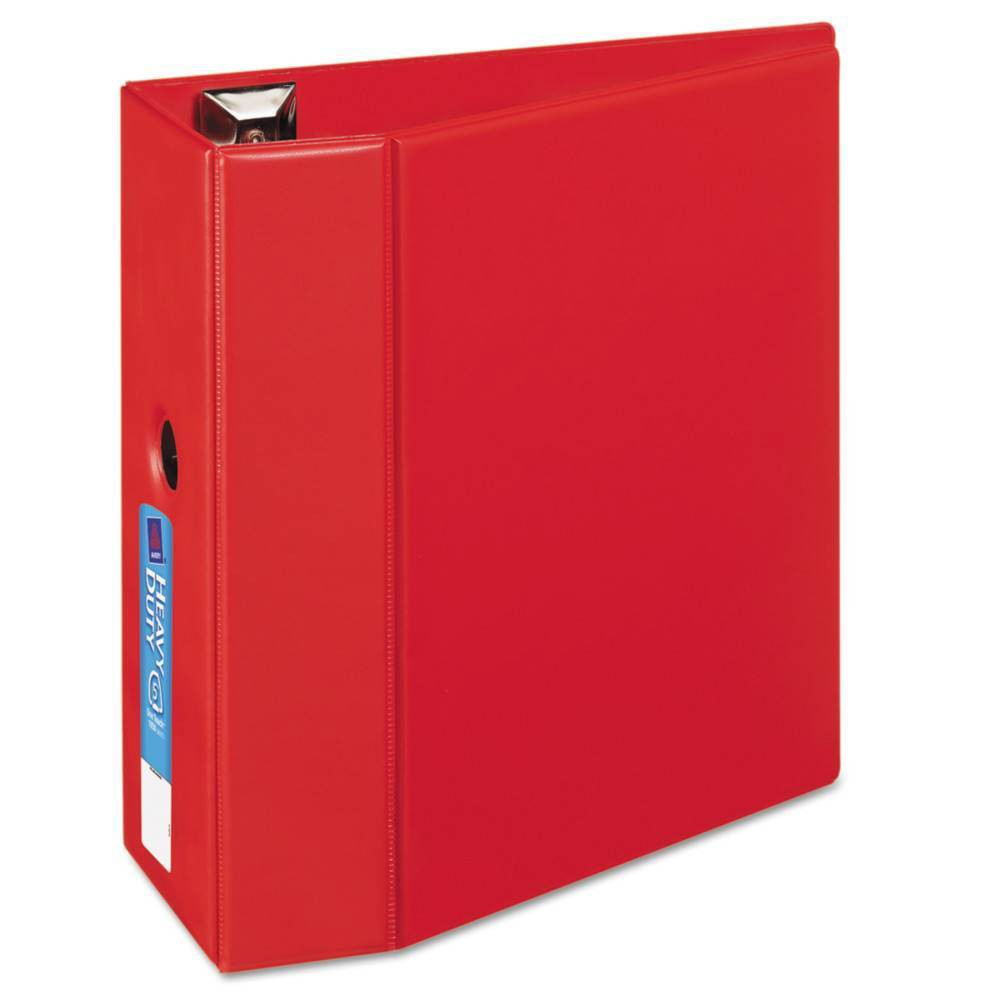 """Image of """"Avery 1050 Sheet 5"""""""" Heavy-Duty Ring Binder Red"""""""